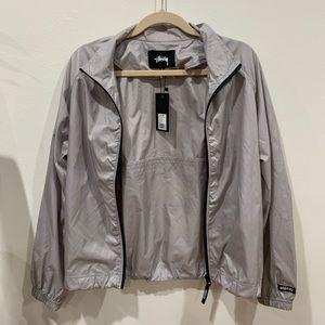 Stussy Women's Grey Windbreaker Jacket